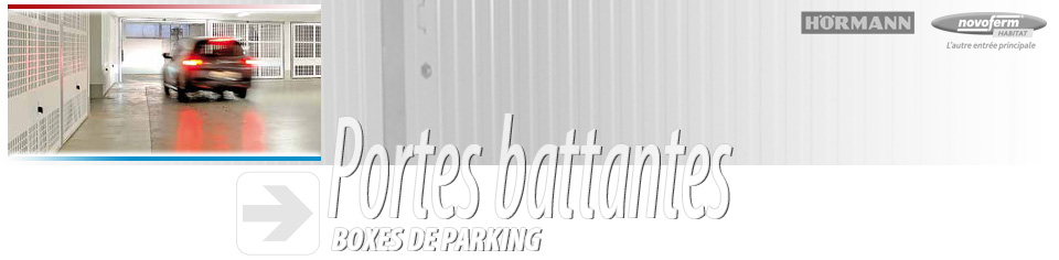 porte battantes hormann, novoferm, abs, pour boxes de parking